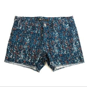 Levi's Patterned Cut Off Denim Shorts